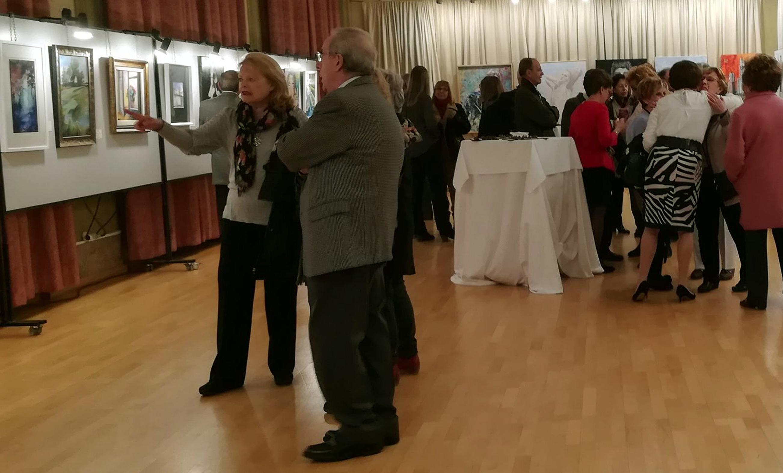 Exposición en el ateneo mercantil de Valencia – Pintores Solidarios