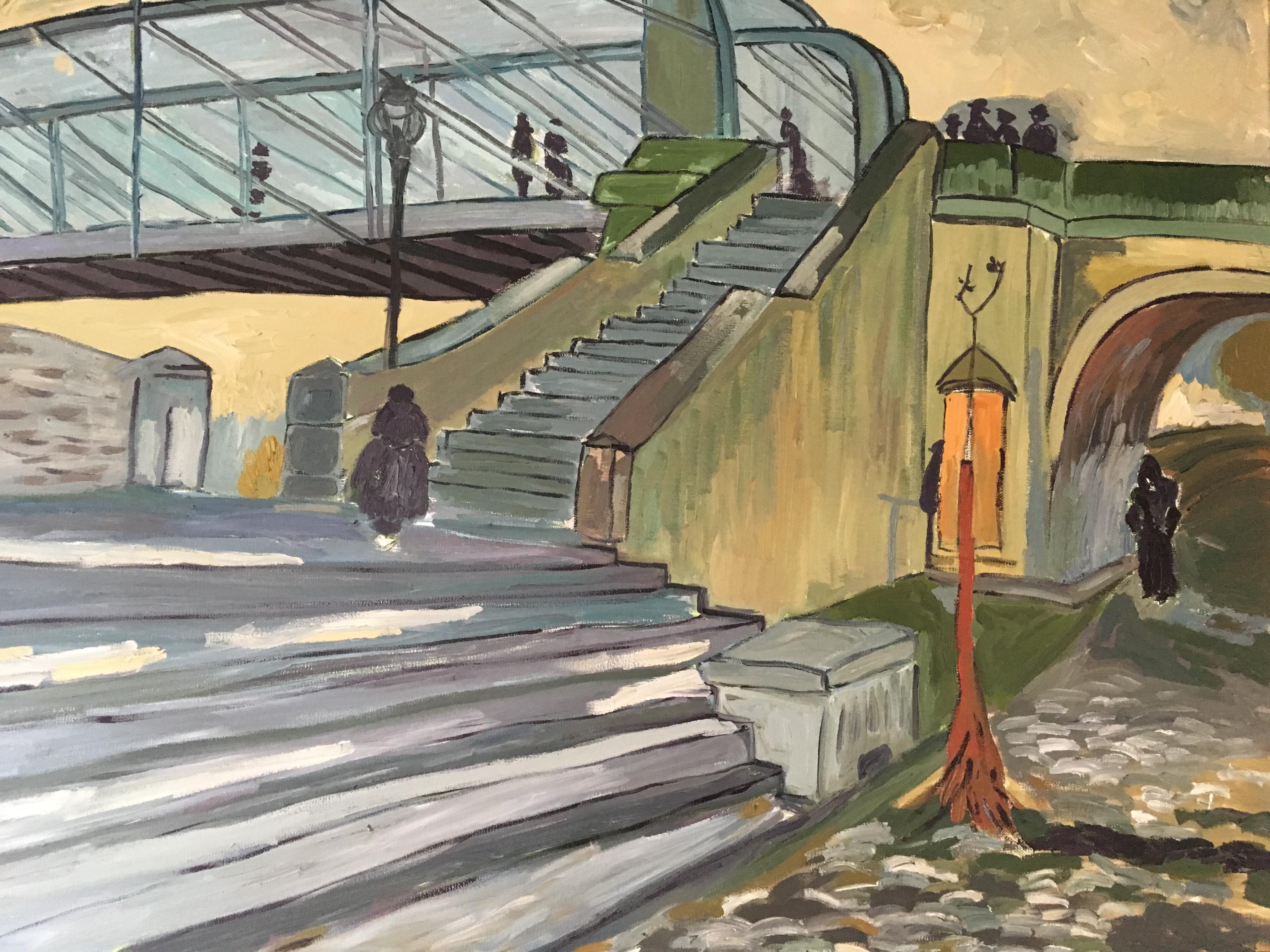 Escaleras en recuerdo de van gogh pintores solidarios for Escaleras pintor precios